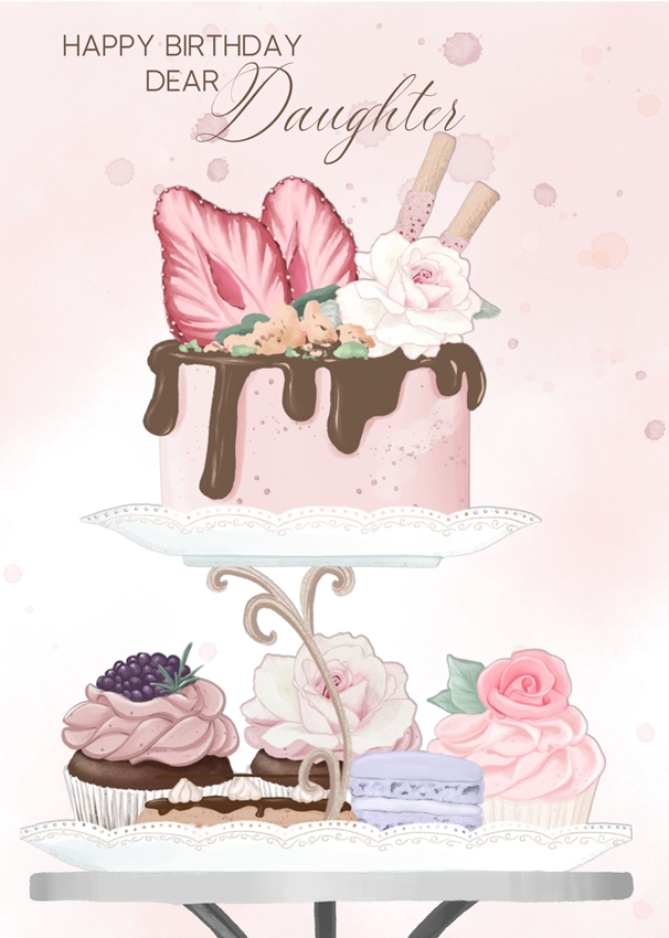 Millymoo Birthday Wishes Dear Daughter  personalised online greeting card