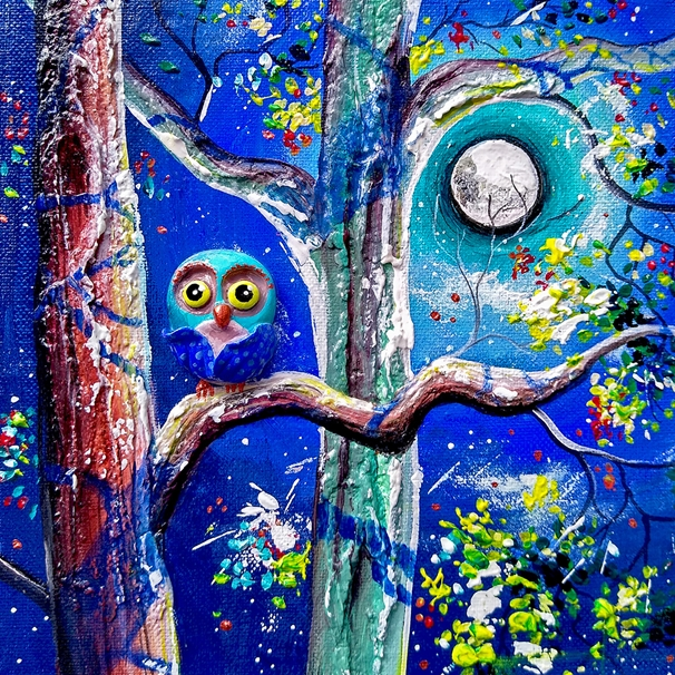 Andrew Alan Art Blue Moon  personalised online greeting card