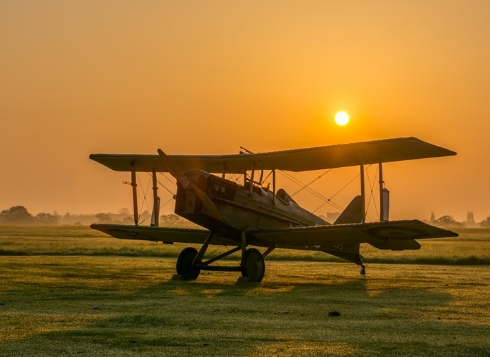 Chappers Photography Biplane Sunrise  personalised online greeting card