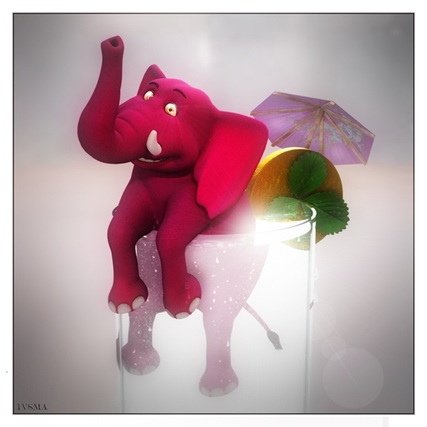 IVSMA Pink Elephant & Lemonade  personalised online greeting card