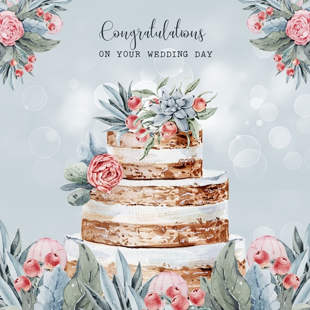 Snappy Designz Happy Wedding Day  personalised online greeting card