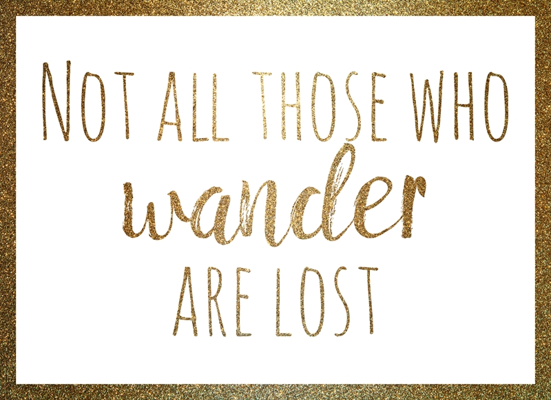 Joyful  Not all those who wander are lost  personalised online greeting card