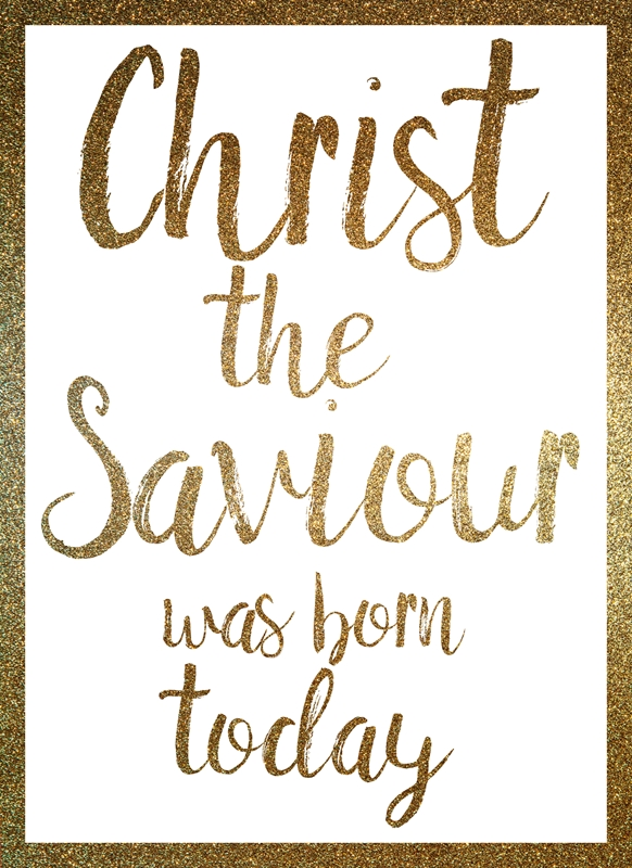 Joyful  Christ the Saviour was born today  personalised online greeting card