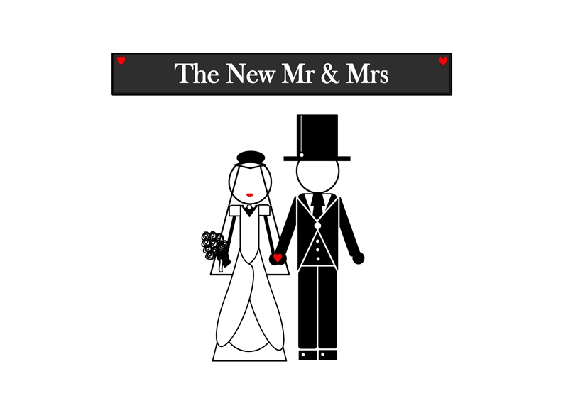 Lulu, Bobs & Roo Wedding The New Mr & Mrs  personalised online greeting card