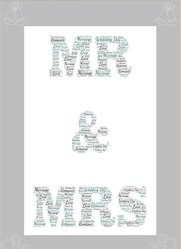 Wicked Creations Mr & Mrs   personalised online greeting card