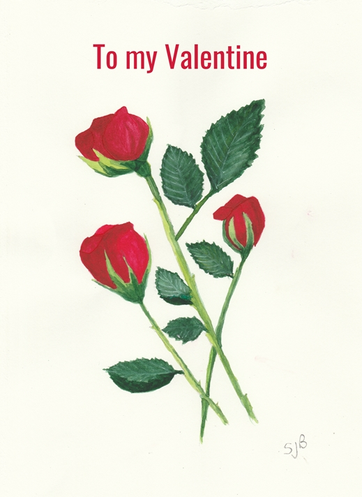 SJB Cards Red Roses  personalised online greeting card