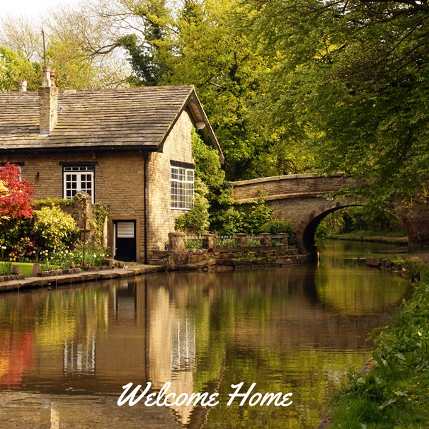 Gary Green Eyes Chocolate box Cottage  personalised online greeting card