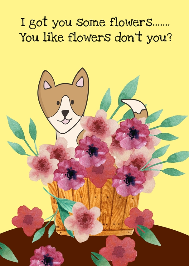 Mum's the Boss Puppy  personalised online greeting card