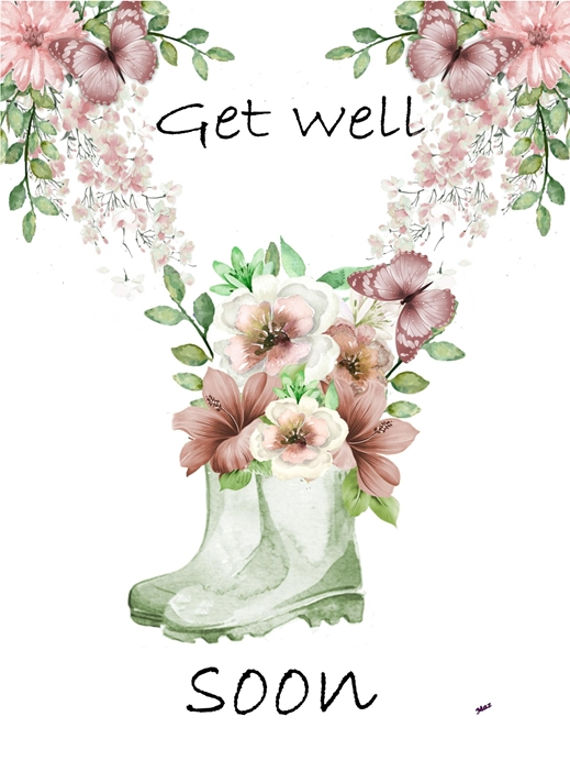Her Nibs  Get well flowers  personalised online greeting card