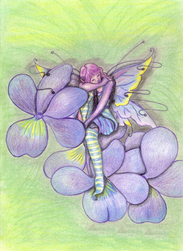 Tilly's Art Violets  personalised online greeting card