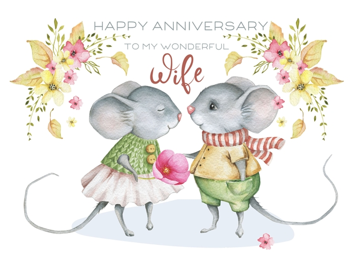 Snappy Designz Wife Anniversary Card  personalised online greeting card