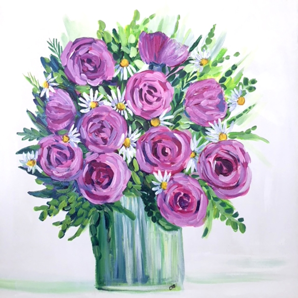 Carole Irving Art and Photography Pink Roses  personalised online greeting card