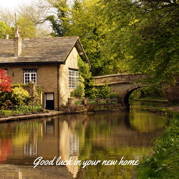 Gary Green Eyes Chocolate Box Cottage Good Luck  personalised online greeting card