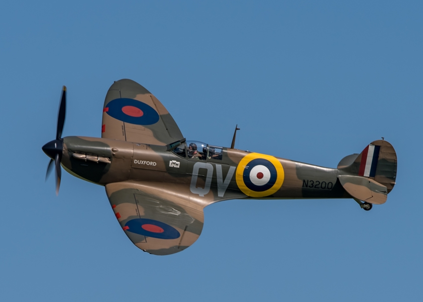 Chappers Photography Supermarine Spitfire  personalised online greeting card