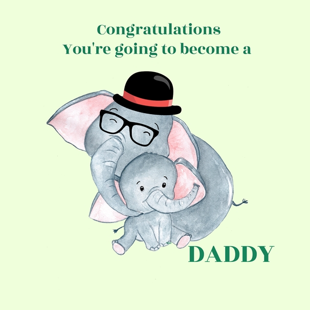 Her Nibs  Congratulations on becoming a Daddy  personalised online greeting card