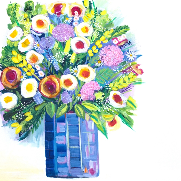 Carole Irving Art and Photography Summer Bouquet  personalised online greeting card