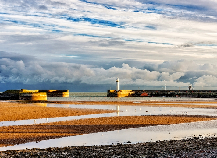 NorthLight Photo-Art Donaghadee harbour at low tide  personalised online greeting card