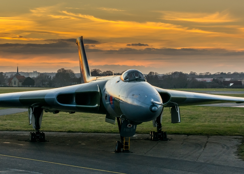 Chappers Photography Avro Vulcan sunset  personalised online greeting card