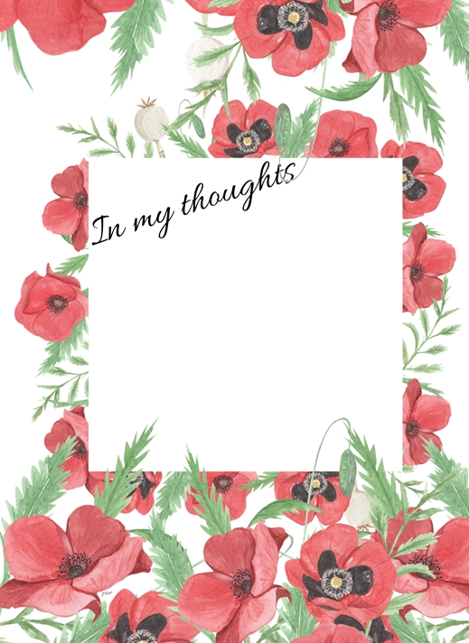 Her Nibs  Poppies-Add your own photo/text  personalised online greeting card