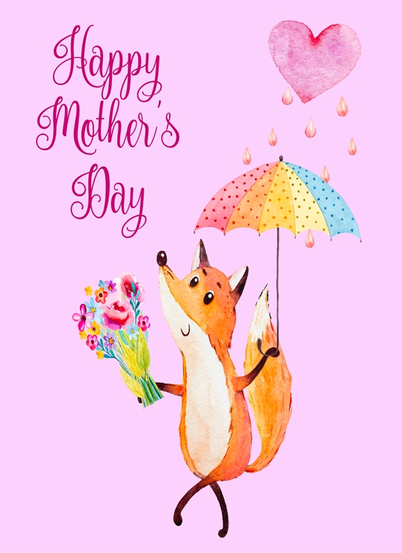 DiSigned4U Mother's Day Fox  personalised online greeting card