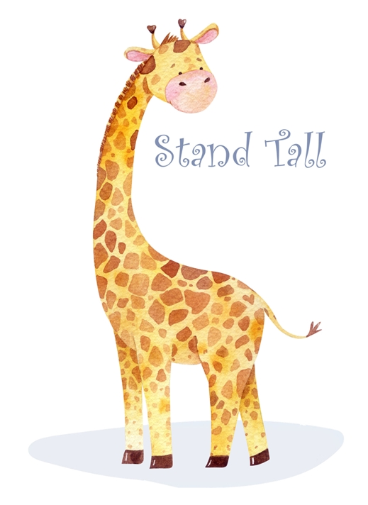 Snappy Designz Stand Tall Childrens Card  personalised online greeting card