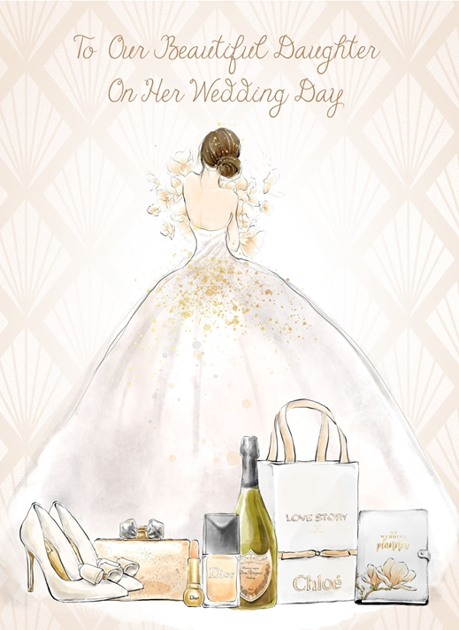 Snappy Designz To Daughter  on her Wedding Day  personalised online greeting card
