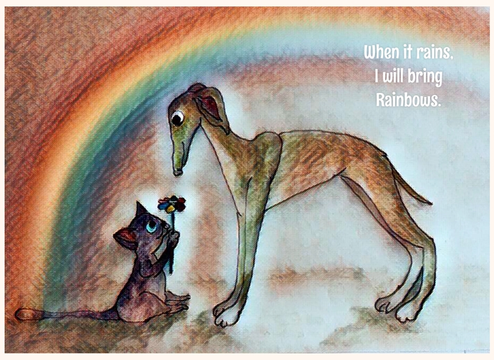 I will bring rainbows  personalised online greeting card