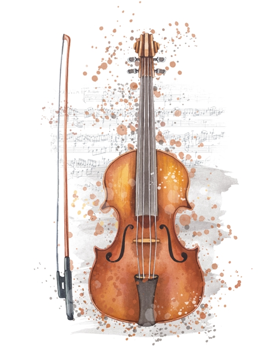 Snappy Designz Violin General Card - Any Occasion  personalised online greeting card