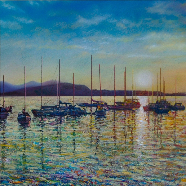 Artcards by Matthew Evans Oban Sunset  personalised online greeting card