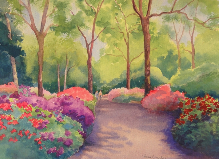 Tessa Spanton Artist Isabella Plantation, Richmond Park  personalised online greeting card