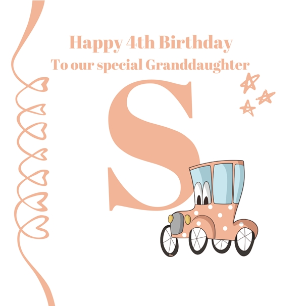 Her Nibs  Initial S ~ Granddaughter ~Add your own name   personalised online greeting card