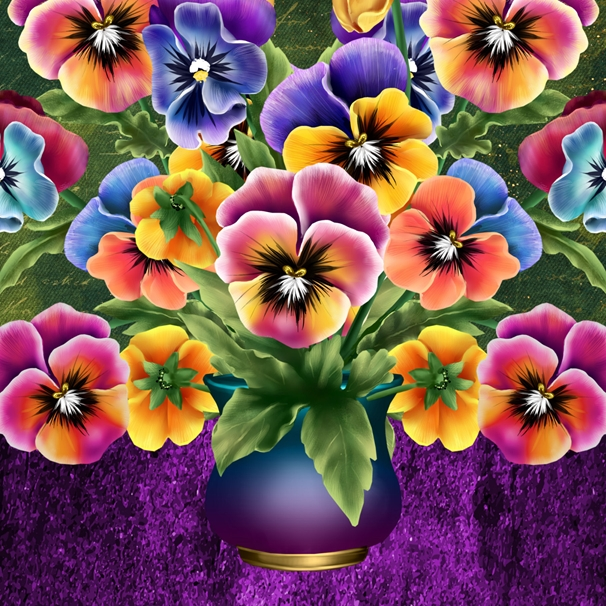 Millymoo Vase of Colour General Card  personalised online greeting card