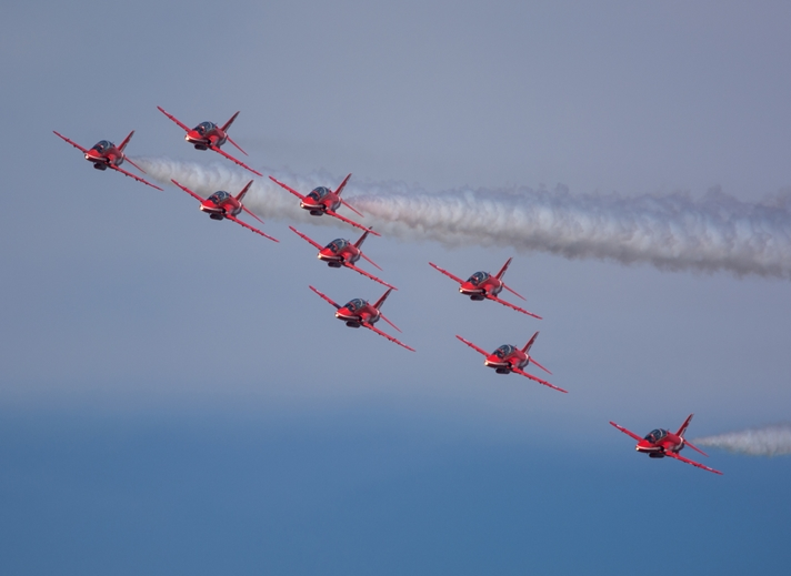 Chappers Photography The Red Arrows  personalised online greeting card
