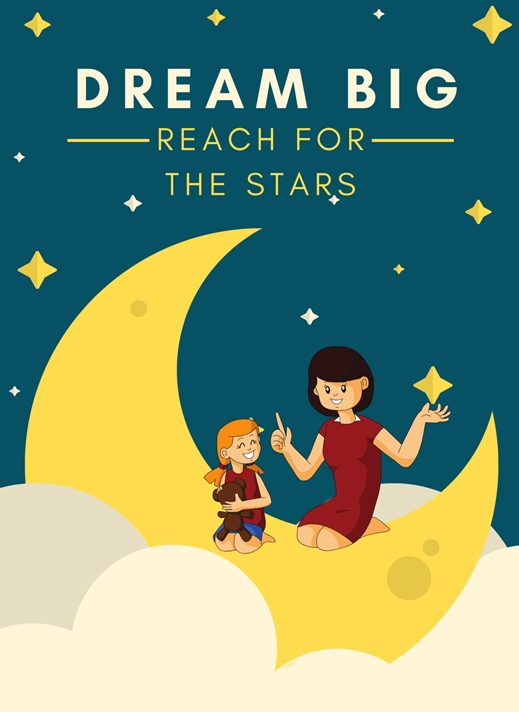 Her Nibs  Reach for the stars   personalised online greeting card