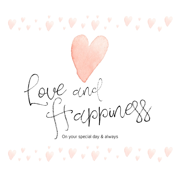 Libby and Millie Love & Happiness  personalised online greeting card
