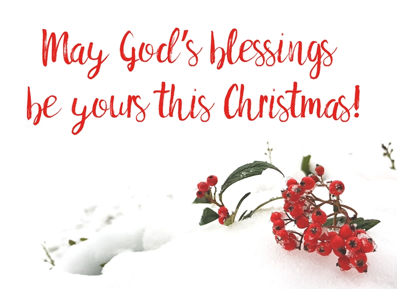 Joyful  May God's Blessings Be Yours This Christmas!  personalised online greeting card