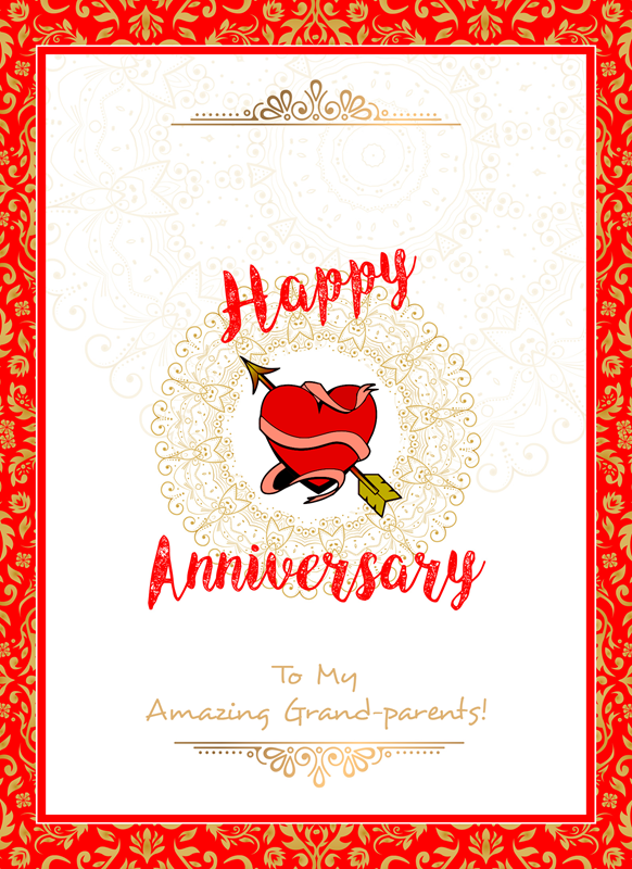 Frontloader Cards Happy Anniversary Grandparents  personalised online greeting card