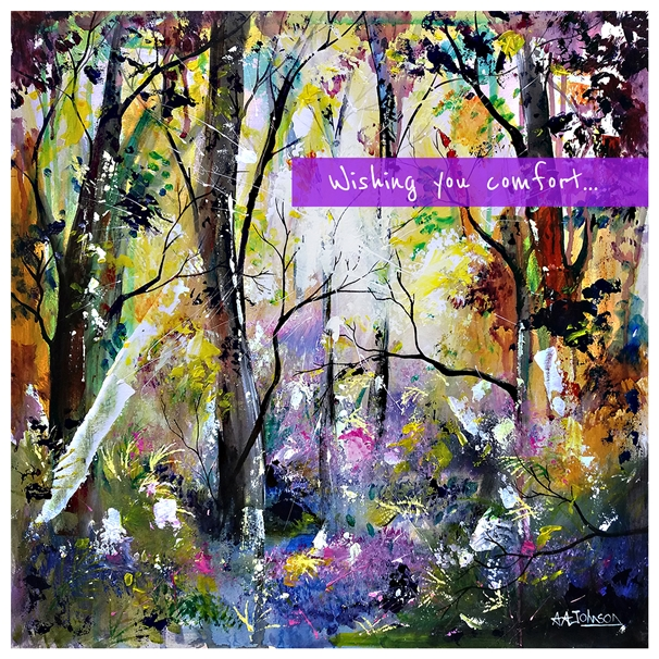 Andrew Alan Art Bluebell Dawn  personalised online greeting card