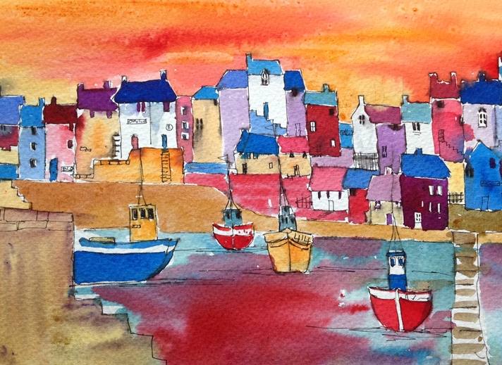 Art by Sheila O'Brien Harbour 2  personalised online greeting card