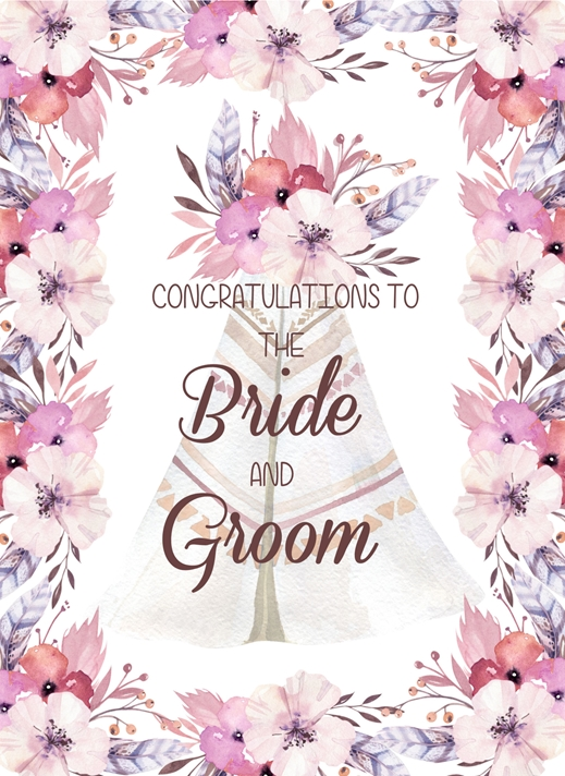 Snappy Designz Boho Wedding Card  personalised online greeting card
