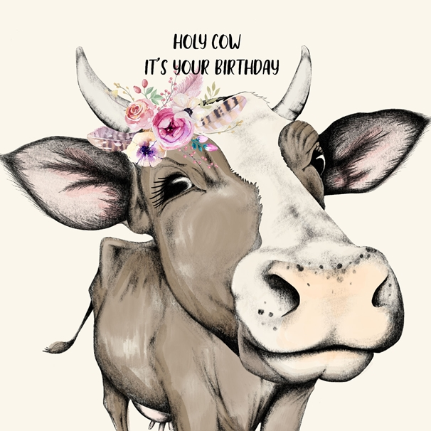 Snappy Designz Holy Cow It's Your Birthday  personalised online greeting card