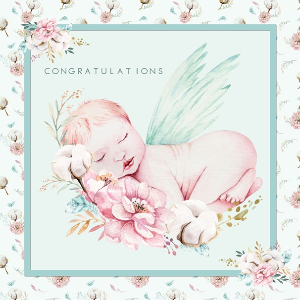 Snappy Designz New Baby Card  personalised online greeting card