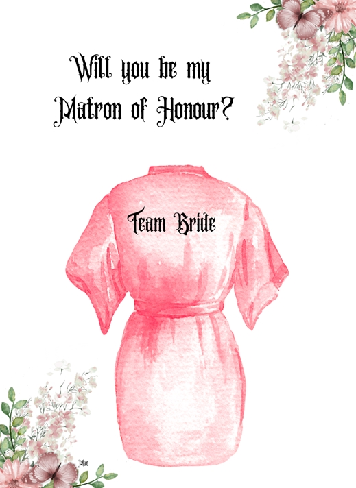 Her Nibs  Will you be my Matron of Honour?  personalised online greeting card