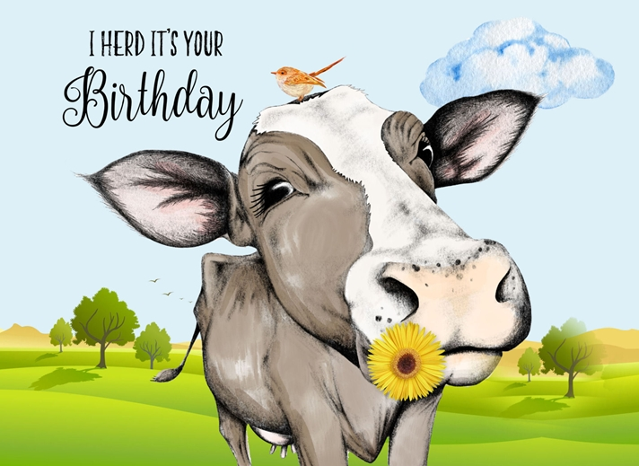 Snappy Designz I Herd It's Your Birthday  personalised online greeting card