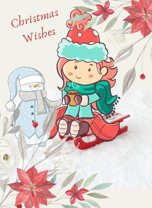 Her Nibs  Christmas Wishes  personalised online greeting card
