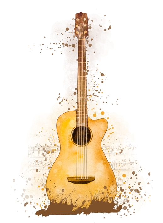 Snappy Designz Guitar - General Card for any occasion  personalised online greeting card