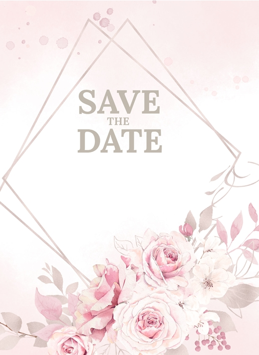 Millymoo Save the Date Wedding INvitation  personalised online greeting card