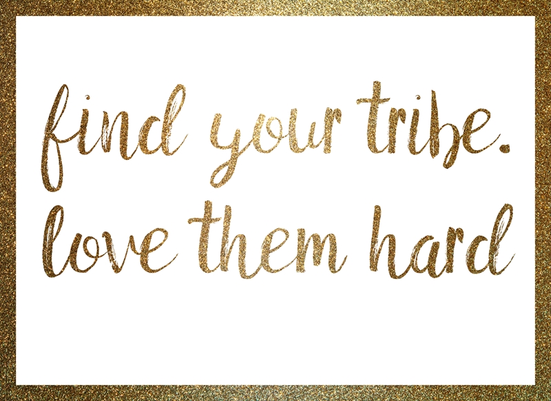 Joyful  Find your tribe  personalised online greeting card