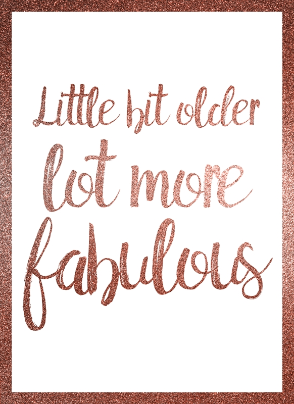 Joyful  Little bit older, lot more fabulous  personalised online greeting card