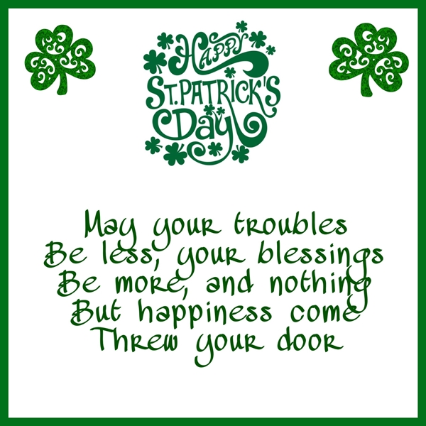 Elegant cards  St Patrick's day   personalised online greeting card